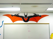 https://beatnikart.com; mural; wall; paint; acrylic; marker; pencil; Batman; Beyond; Batman Beyond