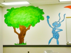 https://beatnikart.com; Bugs Life; mural; wall; paint; acrylic; marker; pencil; flik