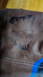 Frankenstein; Monster; Markers; Leather; Jacket;