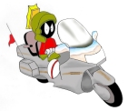 Digital paint; Marvin the Martian; goldwing