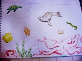 Under Water; Mural; Ocean; Fish; Sea Turtle; Crab; Octopus; Sea; Seal; Eel