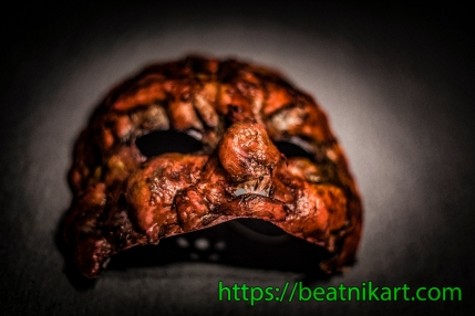 Mask; liquid latex; custom; handmade; latex; horror; zombie; scare; superzombie; superzombiegarage; garage zombie; dead; living dead; super; garage; halloween; https://beatnikart.com